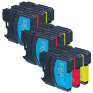 3 C/M/Y Colour Sets of Compatible Brother LC980 / LC1100 Printer Ink Cartridges