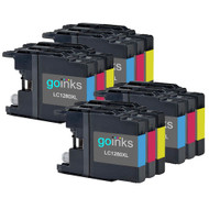 4 C/M/Y Colour XL Sets of Compatible Brother LC1280 Printer Ink Cartridges