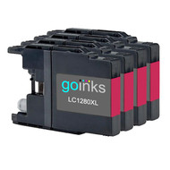 4 Magenta XL Compatible Brother LC1280 Printer Ink Cartridges