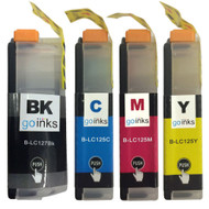1 Set of XL Compatible Brother LC127 & LC125 Printer Inks Cartridges