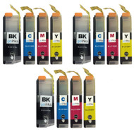 3 Sets of XL Compatible Brother LC127 & LC125 Printer Inks Cartridges
