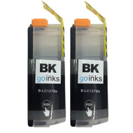 2 Black XL Compatible Brother LC127 Printer Ink Cartridges