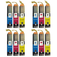 4 C/M/Y Colour XL Sets of Compatible Brother LC125 Printer Ink Cartridges