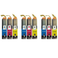 3 C/M/Y Colour XL Sets of Compatible Brother LC223 Printer Ink Cartridges