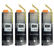 4 Black Compatible Brother LC223 Printer Ink Cartridges