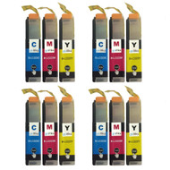 4 C/M/Y Colour XL Sets of Compatible Brother LC223 Printer Ink Cartridges
