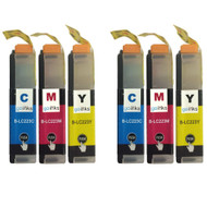 2 C/M/Y Colour XL Sets of Compatible Brother LC223 Printer Ink Cartridges