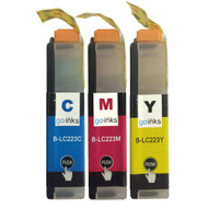1 C/M/Y Colour XL Set of Compatible Brother LC223 Printer Ink Cartridges