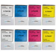2 Compatible Set of 4 Brother TN241 & TN245 Toner Cartridges (TN241BK/TN245C/TN245M/TN245Y)