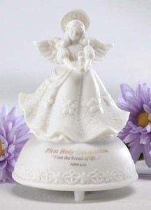 First Communion Musical Angel Figurine