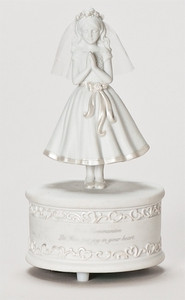 "7.5"" First Communion Girl Music Figurine"