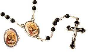 First Communion Rosary with Companion Lapel Pin (Boy)