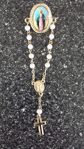 Our Lady of Grace Rosary Lapel Pin