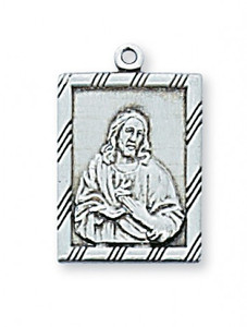 Sterling Silver Sacred Heart Medal w/ Gift Box