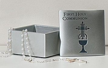 First Communion Keepsake Box - Cross/Chalice Design