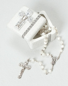 First Communion Keepsake Box - Scroll/Chalice Design