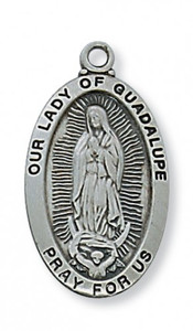 Antique Pewter Our Lady of Guadalupe Medal
