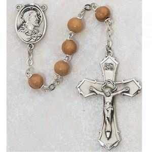 7mm Deluxe Olive Wood Rosary