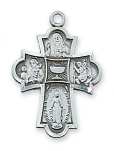 "Antique Pewter ""Communion"" 4-Way Medal"