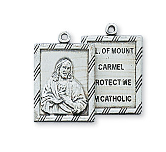 Antique Pewter Double Scapular Medal
