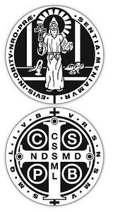Saint Benedict Vinyl Decal