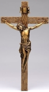 "8"" Antique Gold Crucifix"