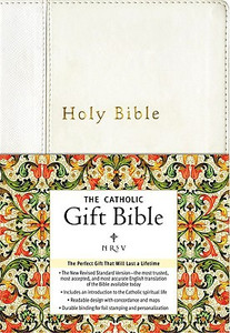 Catholic Gift Bible - NRSV - Soft White Imitation Leather