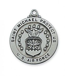 Antique Pewter Saint Michael Medal- Air Force