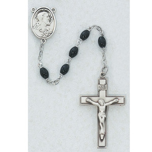 4x6mm Deluxe Black Glass Rosary