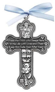 Boy Guardian Angel Cross Crib Medal
