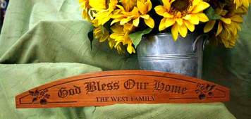 Personalized Bless This Home Plaque