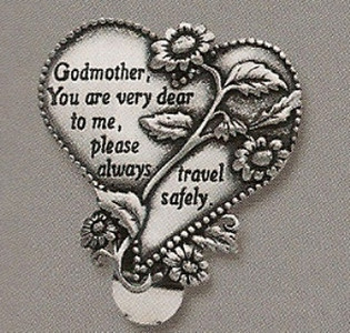 Godmother Heart Auto Visor Clip
