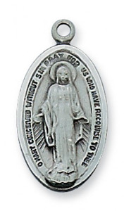 Antique Pewter Miraculous Medal (Small)