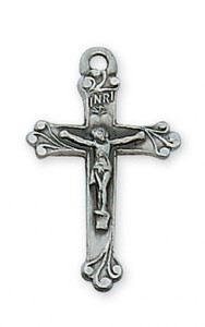 Antique Pewter Crucifix- Small