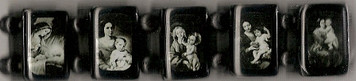 Black Wood Marian Bracelet with Black and White Images