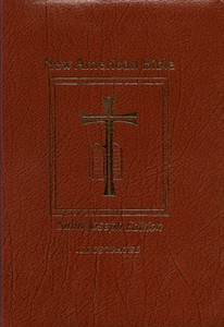 Brown Bonded Leather New American Bible Revised Edition