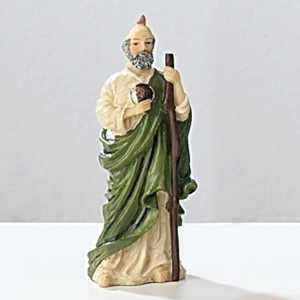 "3.5"" Saint Jude Statue and Prayer Card Set"