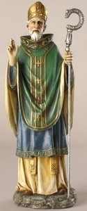"10.5"" Saint Patrick Statue Renaissance Collection"