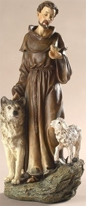 "9.75"" Saint Francis Statue Renaissance Collection"