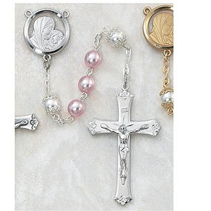 Pink Pearl Rosary 6mm