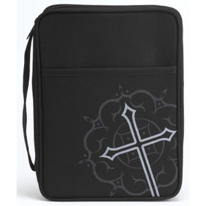 Silk Screened Cross Medium Bible Cover