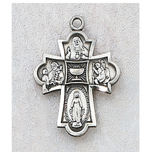 Sterling Silve 4-Way Medal with Chalice Center