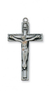 Antique Pewter Traditional Crucifix