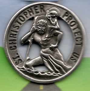 Saint Christopher Auto Visor Clip