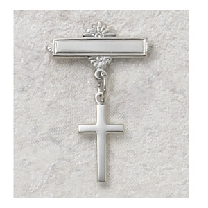 Sterling Silver Cross Baby Pin