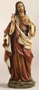 "10"" Sacred Heart Statue"