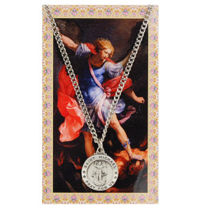 Saint Michael Prayer Card and Medal Set