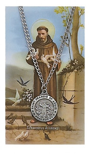 Saint Francis of Assisi Prayer Card and Medal Set 1