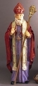 "3.5"" Saint Nicholas Statue and Prayer Card Set"