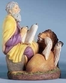 "3.5"" Saint Mark Statue and Prayer Card Set"